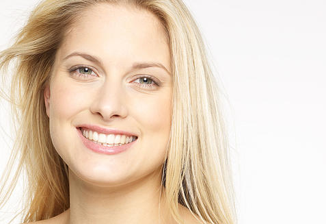 smiling cosmetic dentistry patient